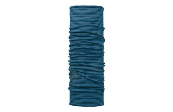 MERINO WOOL BUFF SEAPORT BLUE STRIPES