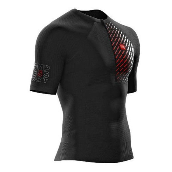 COMPRESSPORT TRAIL RUNNING POSTURAL SS TOP czarna