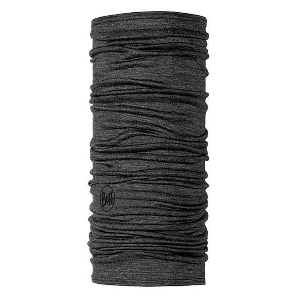 MERINO WOOL BUFF SOLID GREY lightweight 125